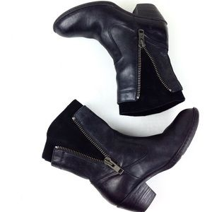 Born Shoes - Born Leather & Suede Ankle Boots 6.5 @
